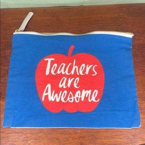 Teachers are awesome cosmetic bag